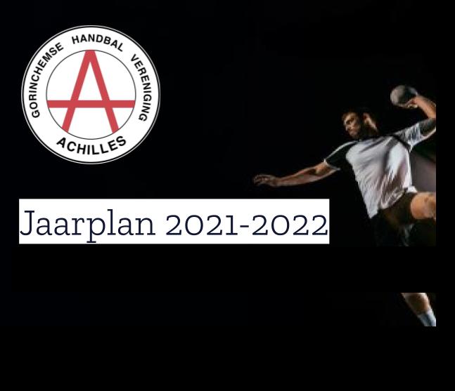 Jaarplan 2021-2022